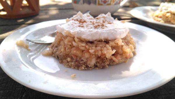 Rauw appeltaartje. een snel-klaar gebakje